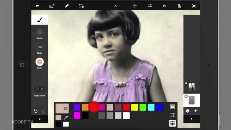 Colorizing Black and White Images with Adobe Photoshop Touch