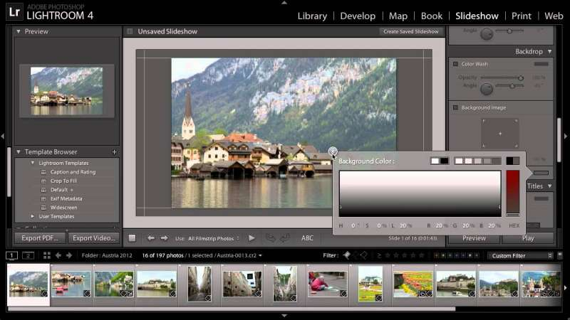 Lightroom for Travel Photography: Sharing a Slideshow