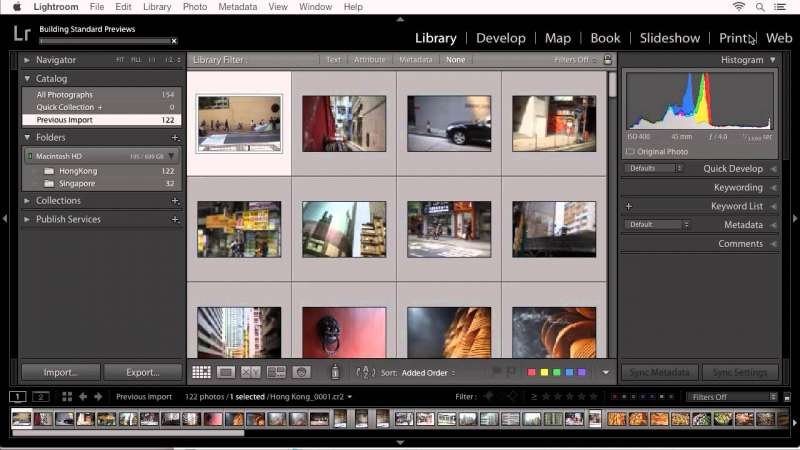 Lightroom CC – Importing Photos from your Computer into Lightroom