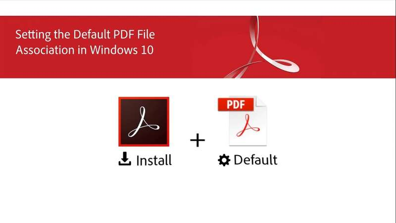 Setting the Default PDF File Association in Windows 10